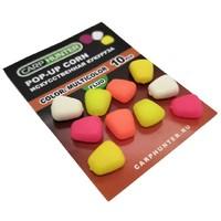 Силиконовая кукуруза pop-up multicolor fluo (разноцветная флуоресцентная) без дипа CarpHunter (10 шт