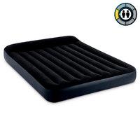 """Надувной матрас с подголовником""""INTEX""""  Pillow Rest Classic Bed Fiber-Tech, 152х203х25см#64143"""