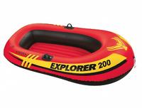 "Надувная лодка""INTEX "" Explorer 200 (до 95кг) 185х94х41см, от 6лет#58330"