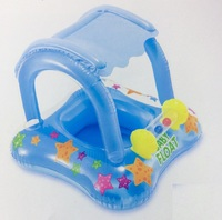 """Надувные водные ходунки """"Intex""""81х66см """"Baby Float"""" с тентом, до 15 кг, от 1 до 2 лет#56581"""