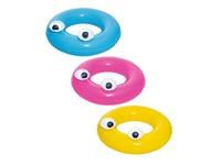 Надувной круг BW Bestway для плавания Глазастики, 91см, три цвета, от 10 лет