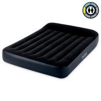 """Надувной матрас """"INTEX""""с подголовником Pillow Rest Classic Bed Fiber-Tech, 137х191х25см, встроенный"""