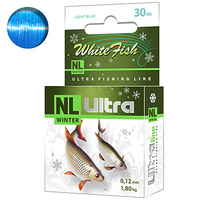 ЛЕСКА ЗИМНЯЯ NL ULTRA WHITE FISH (БЕЛАЯ РЫБА) 30M 0,12MM