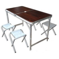 Набор стол складной и 4 табурета 60*120