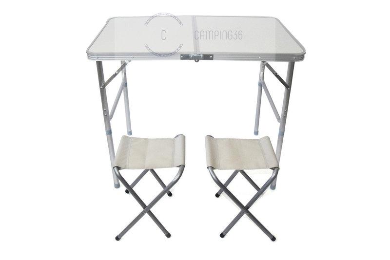 Набор стол складной и 2 табурета 60*90