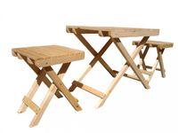 Набор стол складной и 2 табурета 56*70 деревянный
