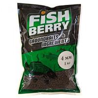 Пеллетс FISHBERRY гранулированный тёмно-коричневый (лосось) 4мм (1кг)