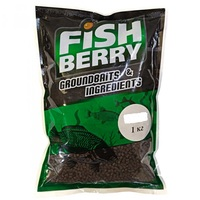 Пеллетс FISHBERRY гранулированный тёмно-коричневый (лосось) 18мм (1кг)
