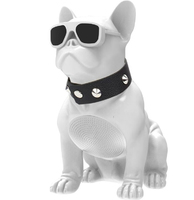 Беспроводная колонка Собака бульдог белая