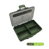 Коробка карповая 4 отделения (105*75*24мм) CarpHunter