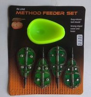 Набор кормушек In Line Method Feeder Set 4+1