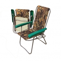 Кресло дачное складное металлическое