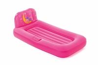 Надувная кровать детская Dream Glimmers 132x76x46 см, с подсветкой#93548