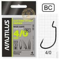 Крючок офсетный Nautilus Offset Cutting Point series Wide Gape CP-27 BC № 4/0