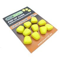 Силиконовая кукуруза pop-up yellow (желтая) без дипа CarpHunter (10 шт.)