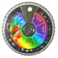 Набор грузил Mingrui 0.3/0.5/1/1.5/2.5г бол 6отд со стопором